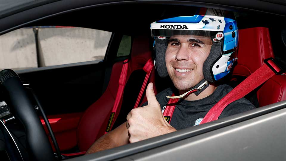 Robert Wickens in an Acura NSX at the Honda Indy Toronto