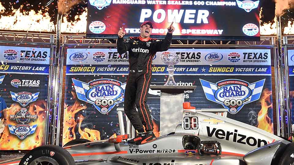Will Power in victory lane for the 2017 Texas race