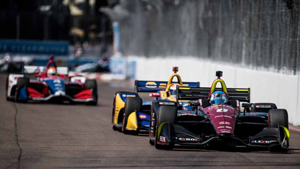 Robert Wickens on track at the Firestone Grand Prix of St. Petersburg