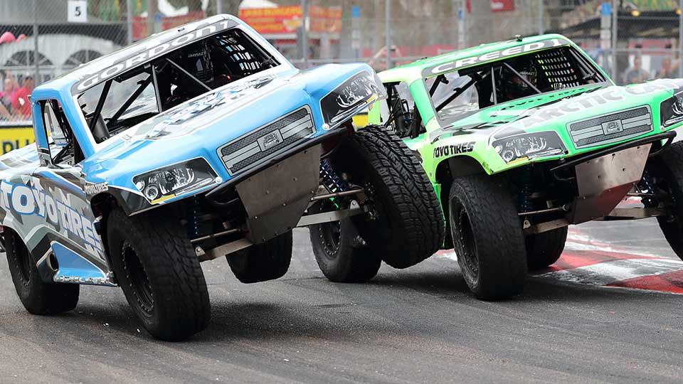 Stadium Super Trucks on the Honda Indy Toronto track