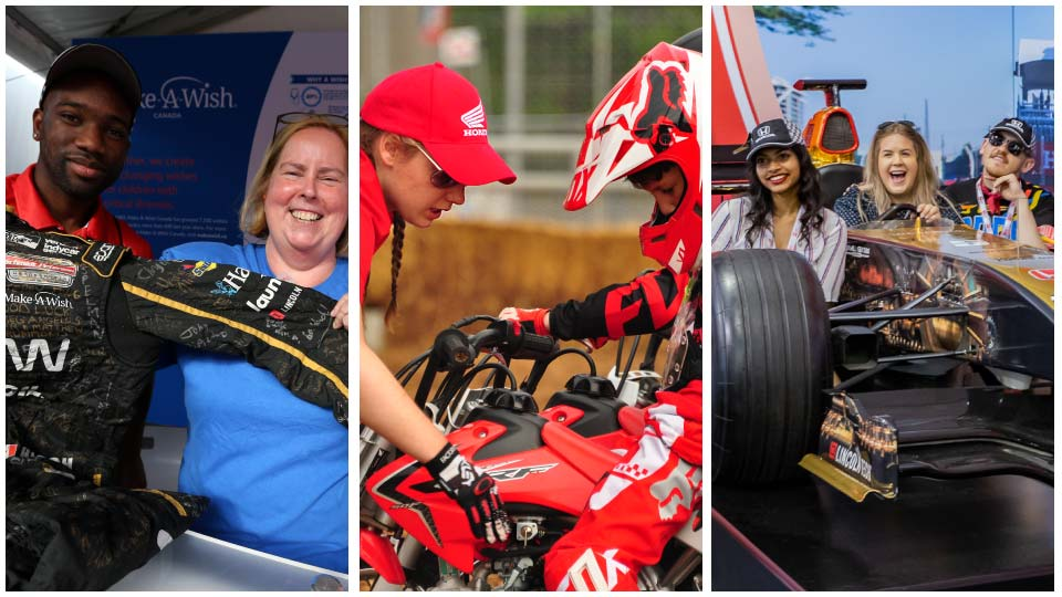 Fan activities at the Honda Indy Toronto