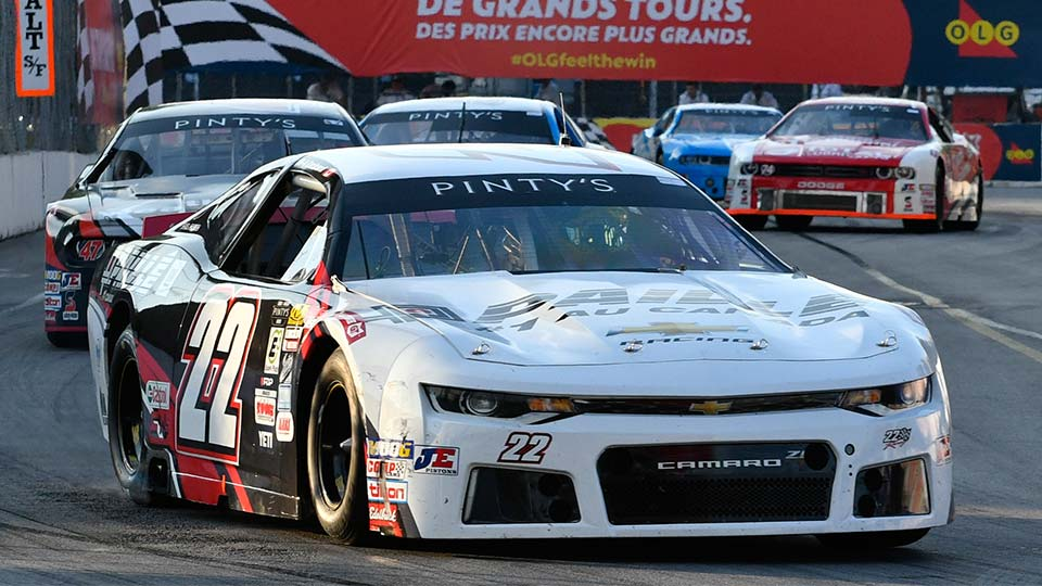 NASCAR Pinty's Series car on track at the Honda Indy Toronto