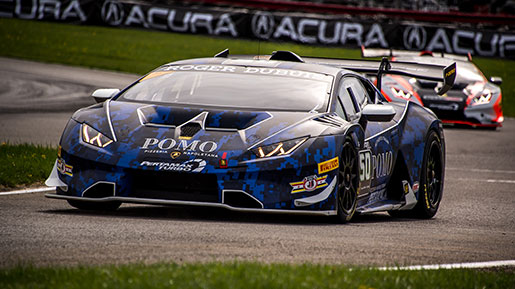 Lamborghini Super Trofeo Cars on track